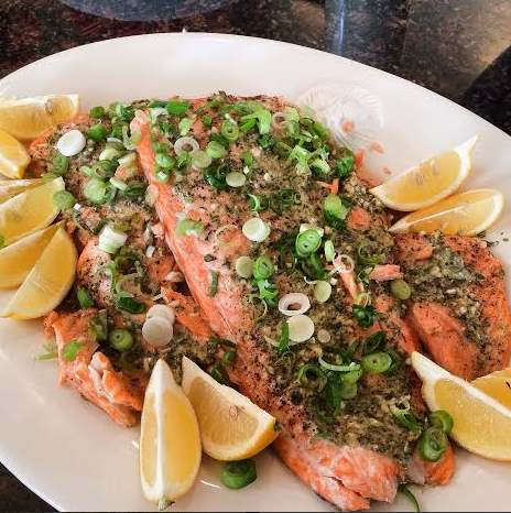 final-herb crusted salmon