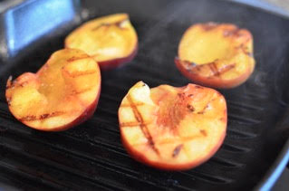 close up-grilled peaches