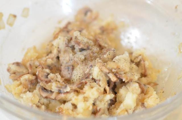 onion and potato mixture