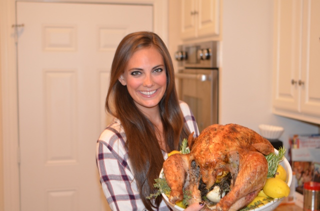 rachel with turkey