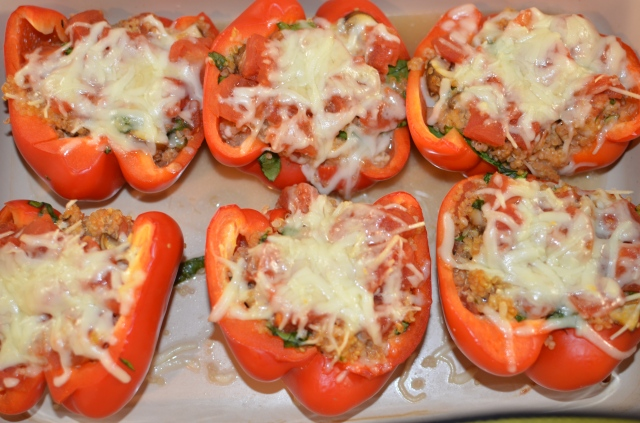 finished peppers from top