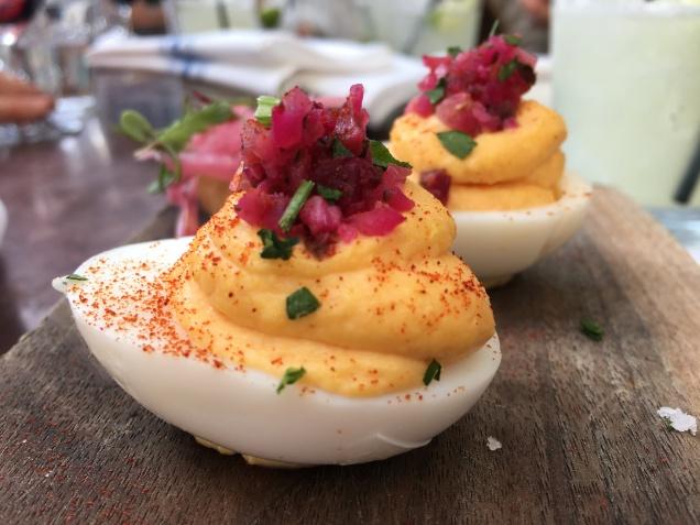 Pimiento Cheese Deviled Eggs