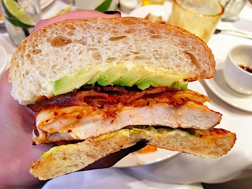 mustards- chicken sandwich